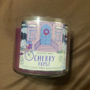 """Brand new bath & body works """"cherry frost"""" candle"""